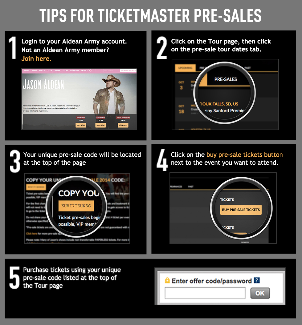 Ticketmaster Pre-Sales Tips