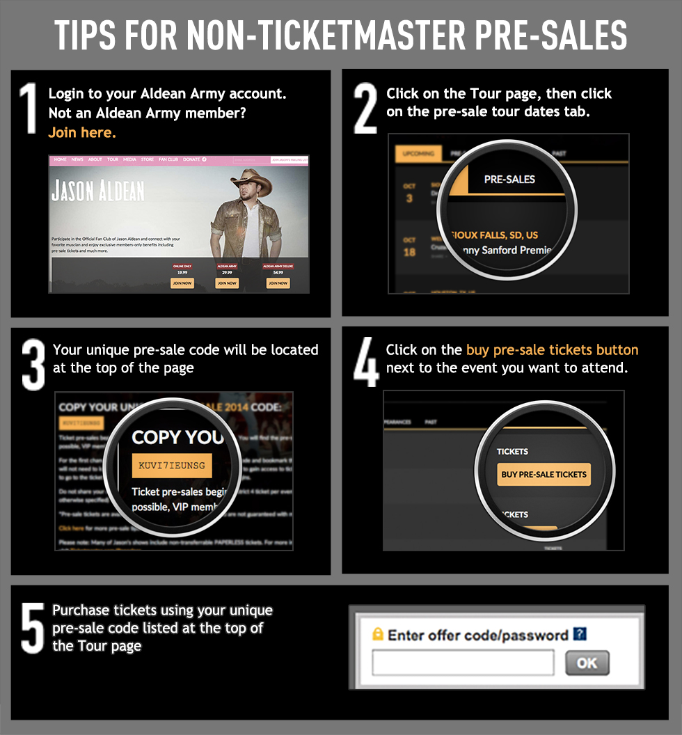 Non-Ticketmaster Pre-Sales Tips