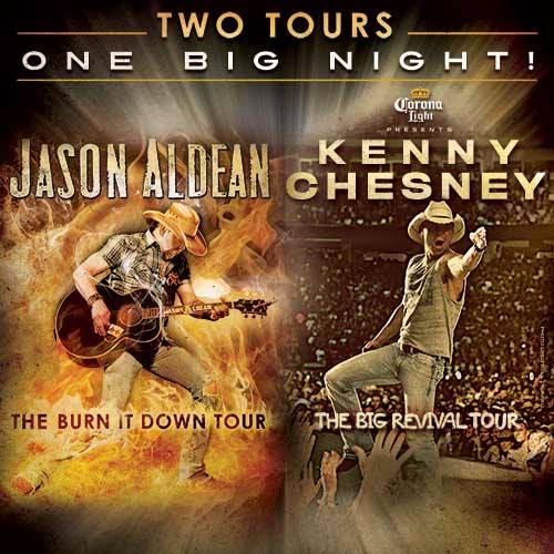 Jason Aldean & Kenny Chesney Announce Stadium Shows in 2015