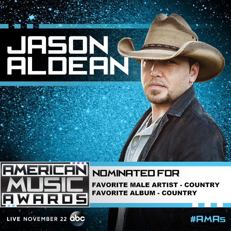 JASON NOMINATED FOR 2 AMERICAN MUSIC AWARDS