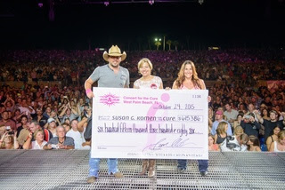 JASON WRAPS 2015 TOUR WITH $615K TO SUSAN G. KOMEN