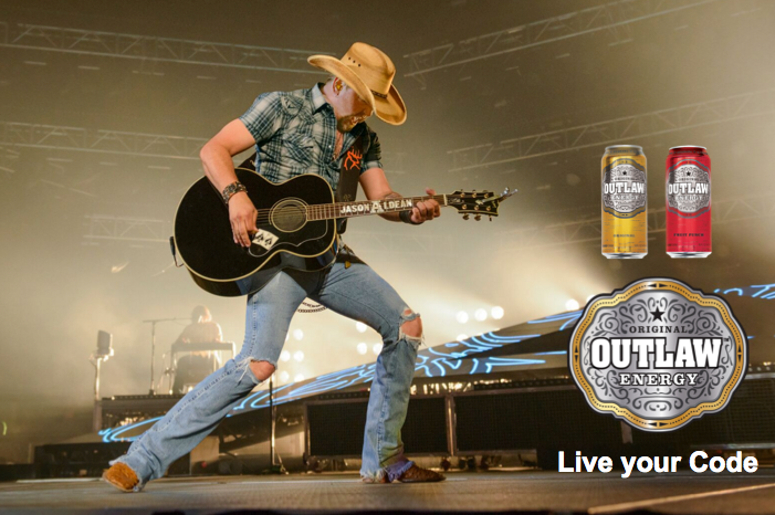 JASON ANNOUNCES OUTLAW ENERGY DRINK PARTNERSHIP