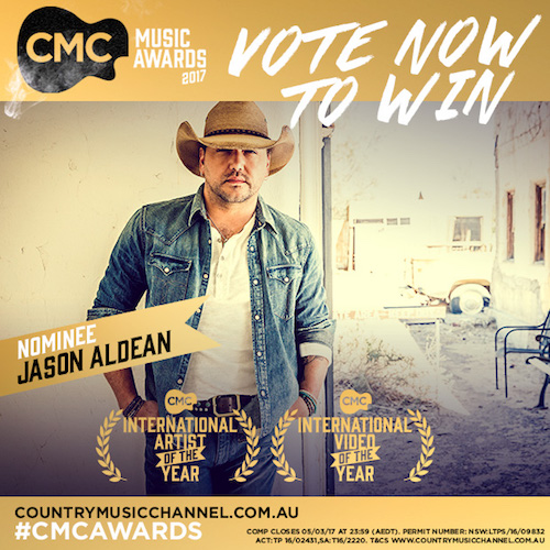 JASON NOMINTATED FOR TWO CMC MUSIC AWARDS