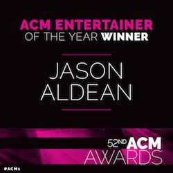 JASON WINS ACM ENTERTAINER OF THE YEAR