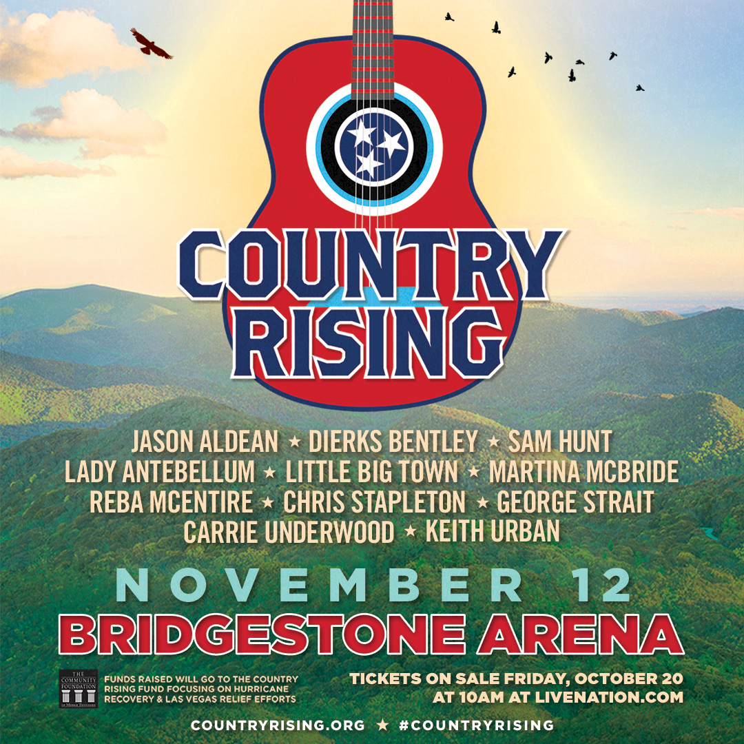 See Jason at COUNTRY RISING benefit concert – tickets go on sale October 20th