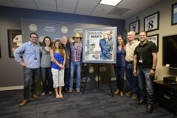 RIAA NAMES JASON TOP DIGITAL MALE COUNTRY ARTIST IN HISTORY